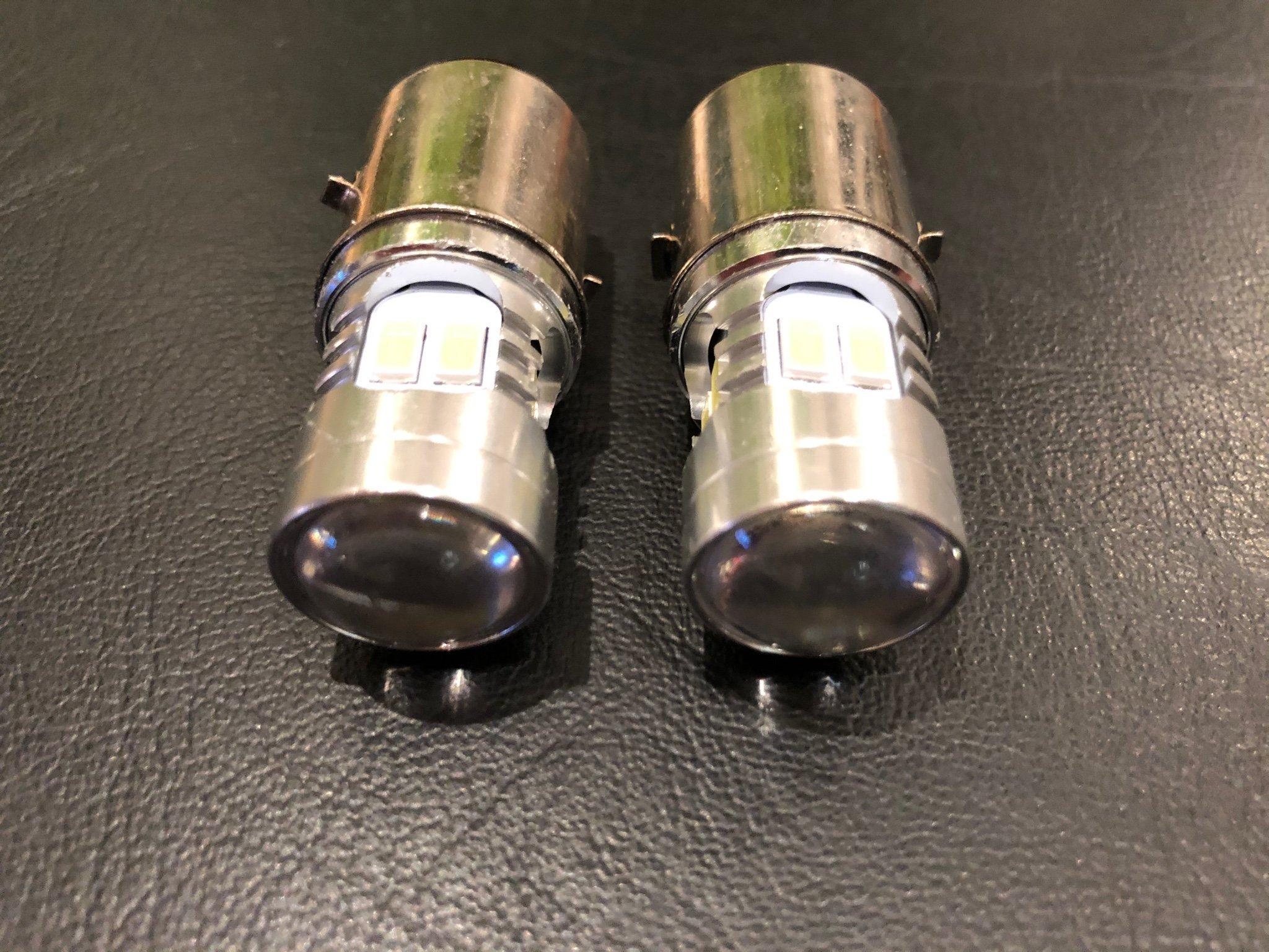 2 pack LED lampa 612 volt Ba20d med lins Zund.. (391403501