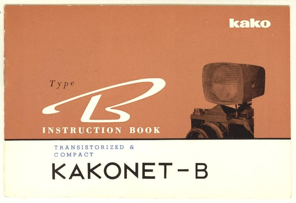 Kakonet-B. Instruction book