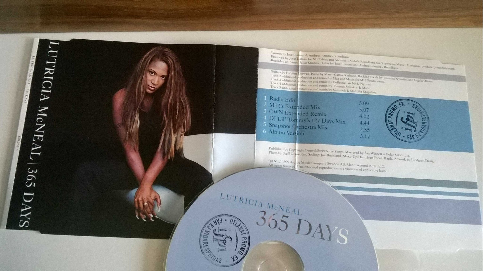 Lutricia McNeal - 365 days, single CD, promo stämplad