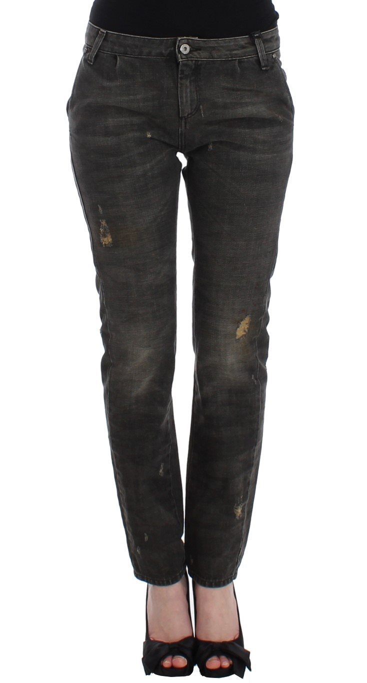 Costume National - Gray distressed jeans