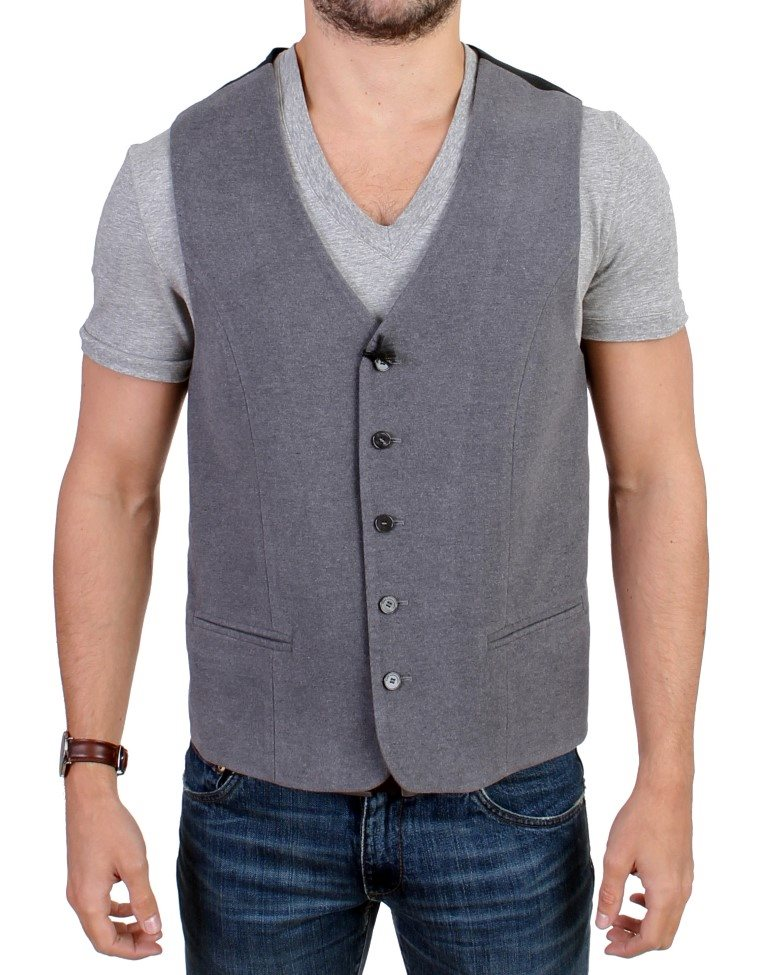 Costume National - Gray cotton blend casual vest