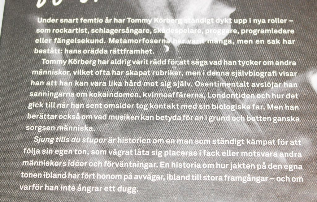 Tommy Köeberg Köeberg Köeberg - sjung tills du stupar(memoarer) f7851b