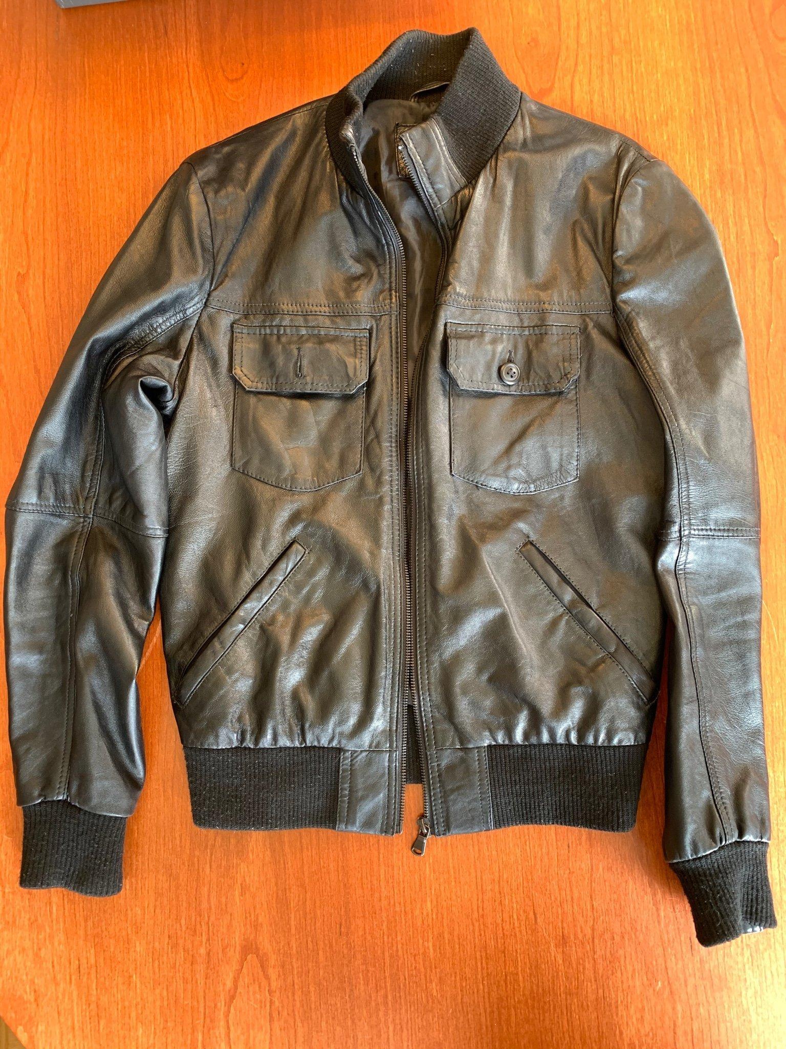 Svart Skinnjacka Zara Youth strl Small (418985128) ᐈ Köp på