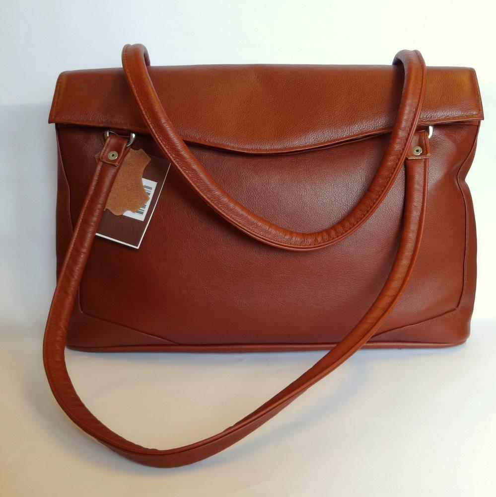 stor brun väska