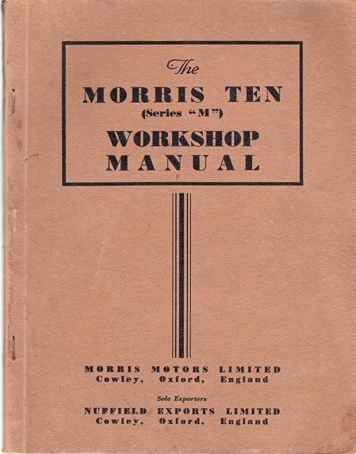 Morris Morris Morris Ten serie M Original verkstadshandbok 49f62f