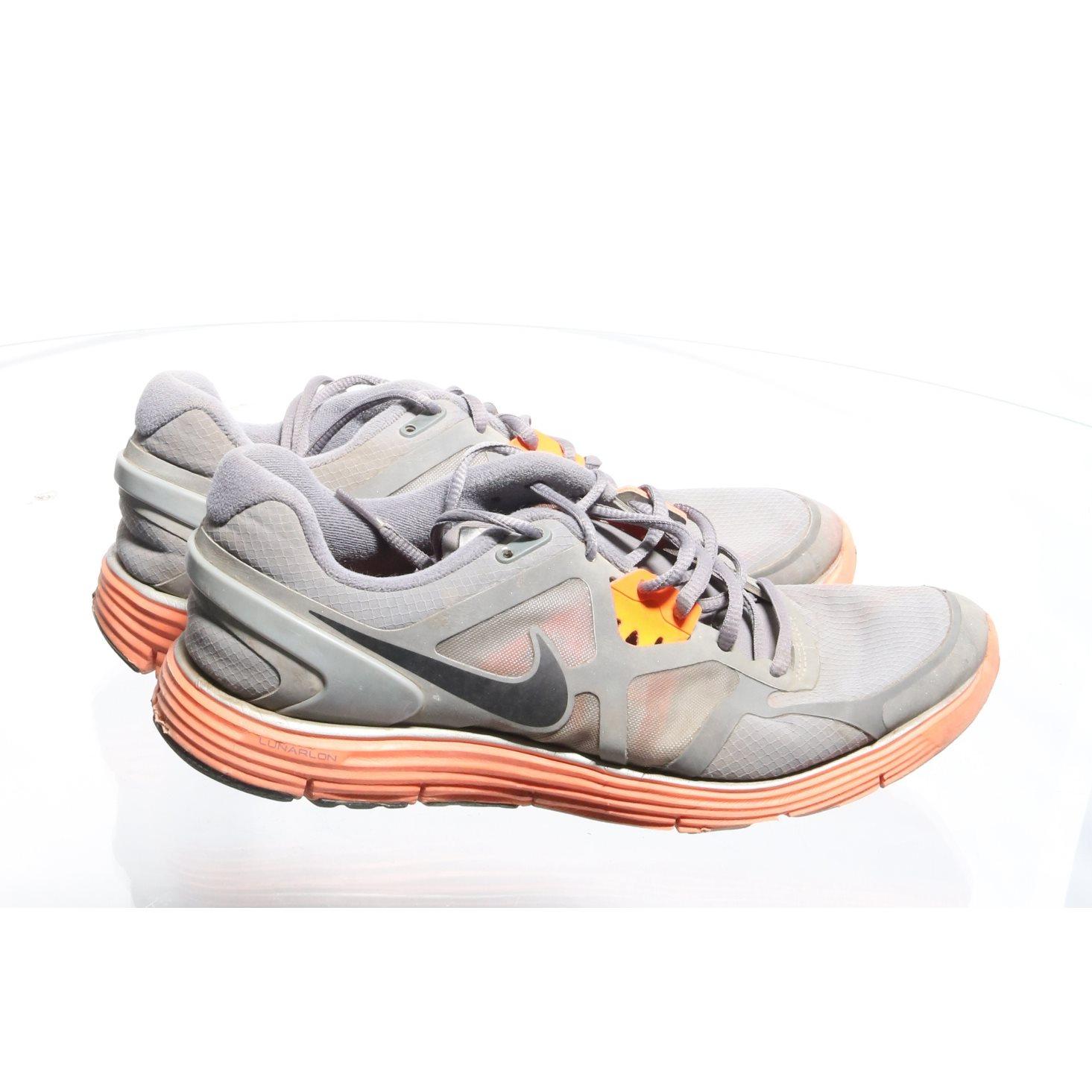 promo code 63aa1 8adda Nike, Träningsskor, Strl  42,5, Lunarglide 3, Grå Orange