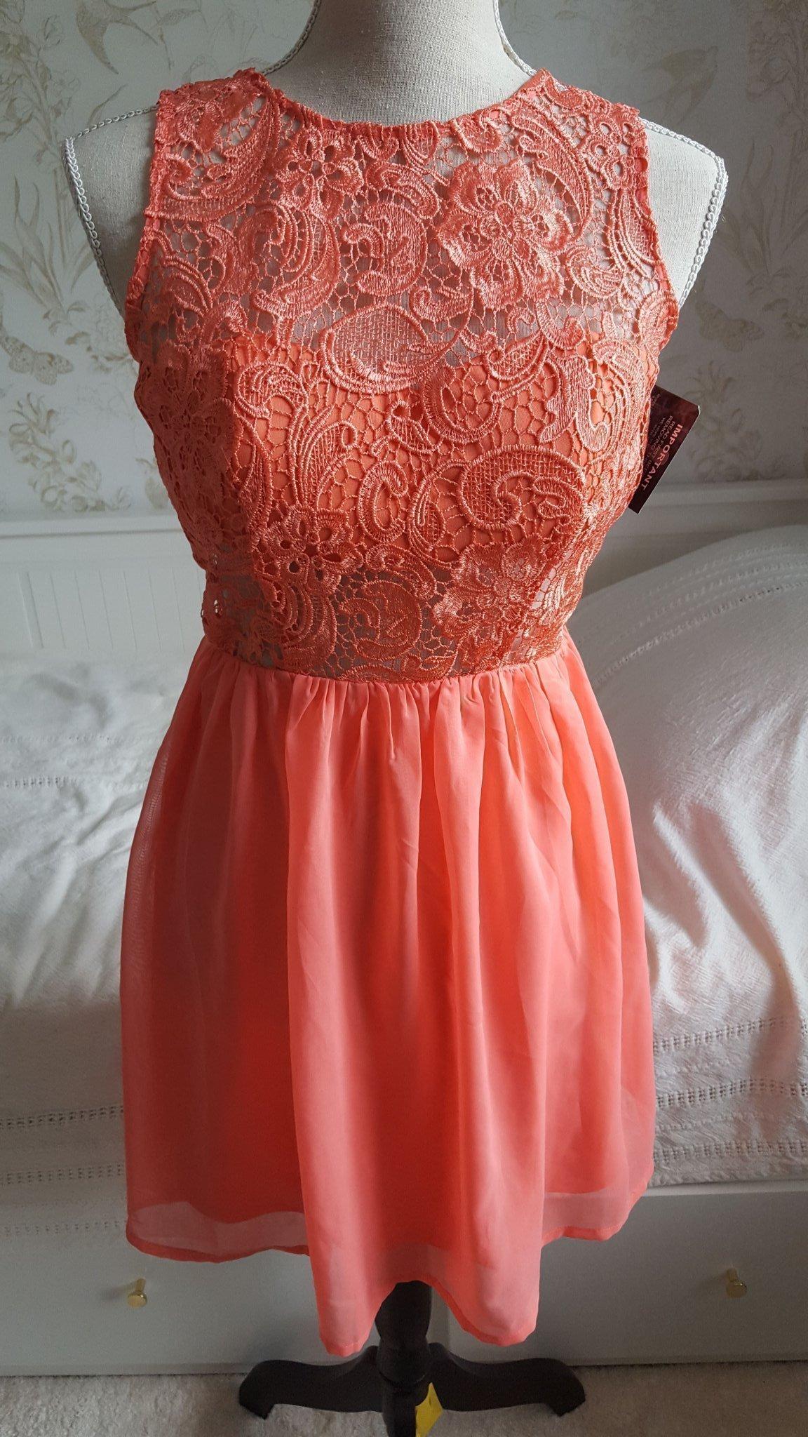 korall klänning nelly