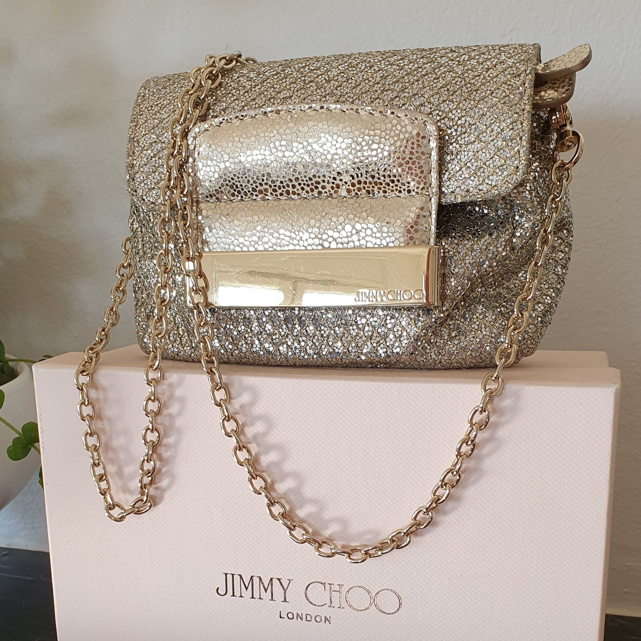 Glittrig väska Jimmy Choo