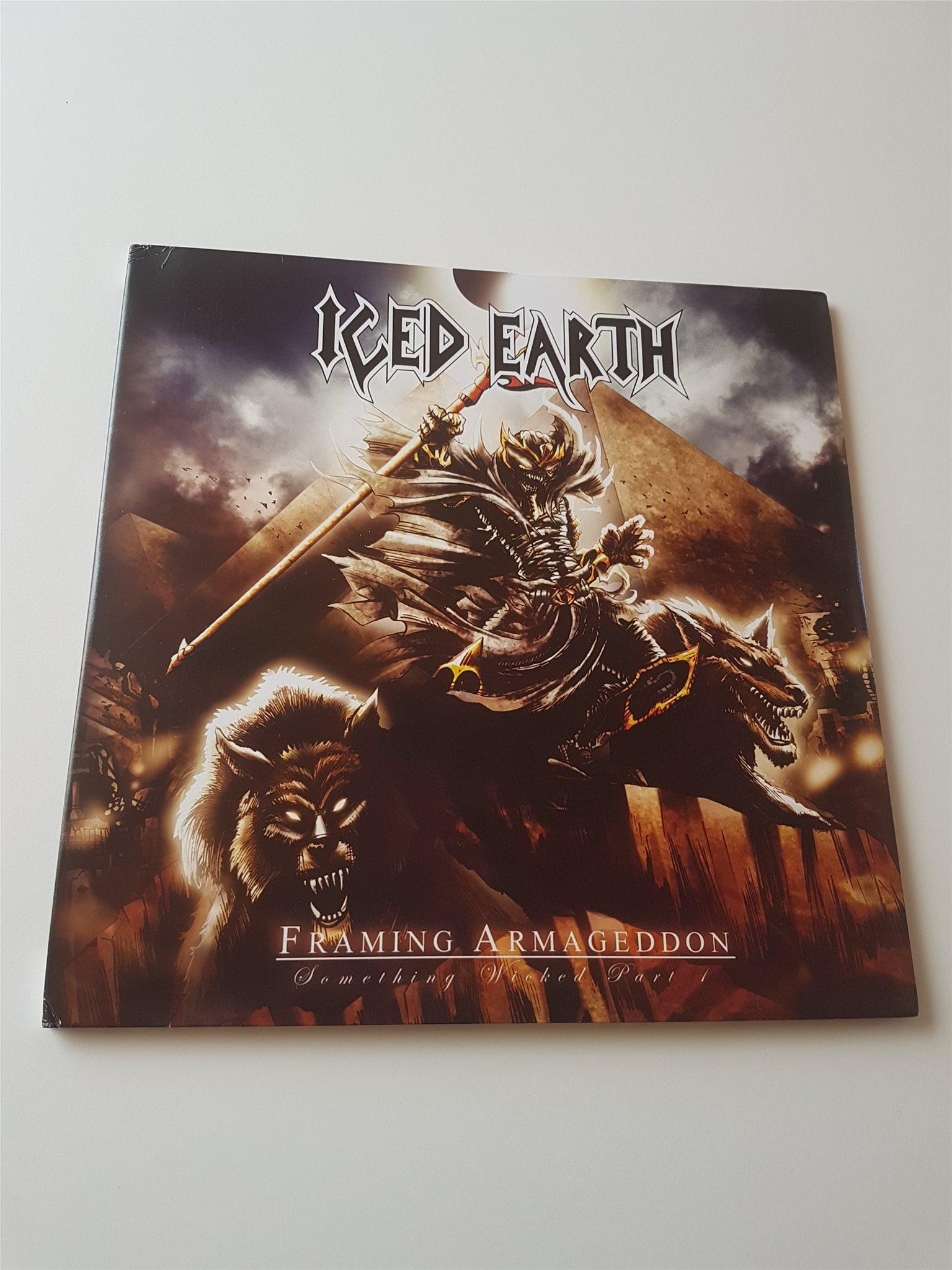 Iced Earth framing armageddon Tim Ripper Owens Judas Priest vinyl LP på