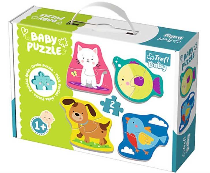Trefl Baby Pussel - Små djur 4 x 2 Bitars