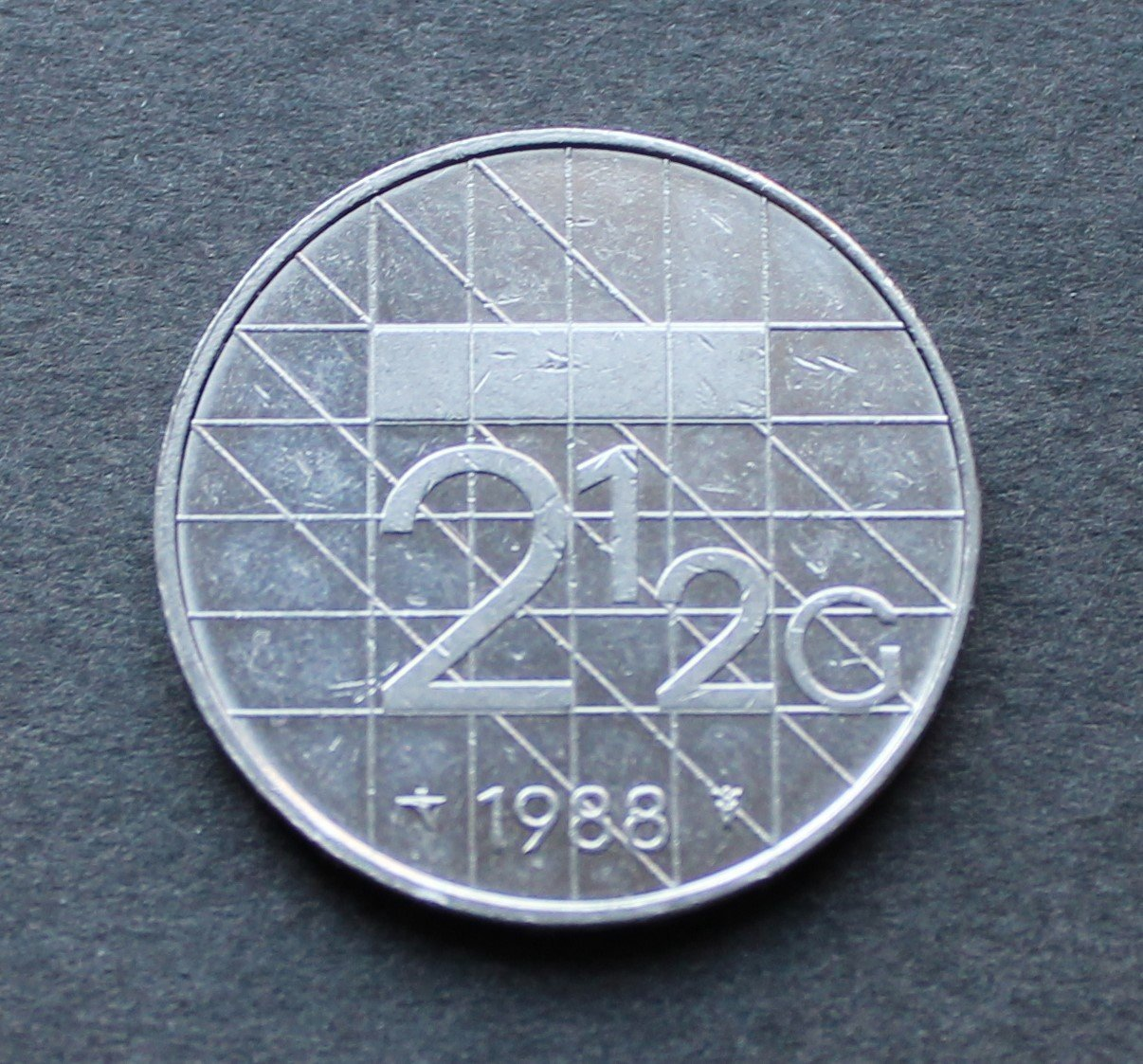 NEDERLÄNDERNA - 2½ Gulden 1988 - KM 206 - Nickel - Holland