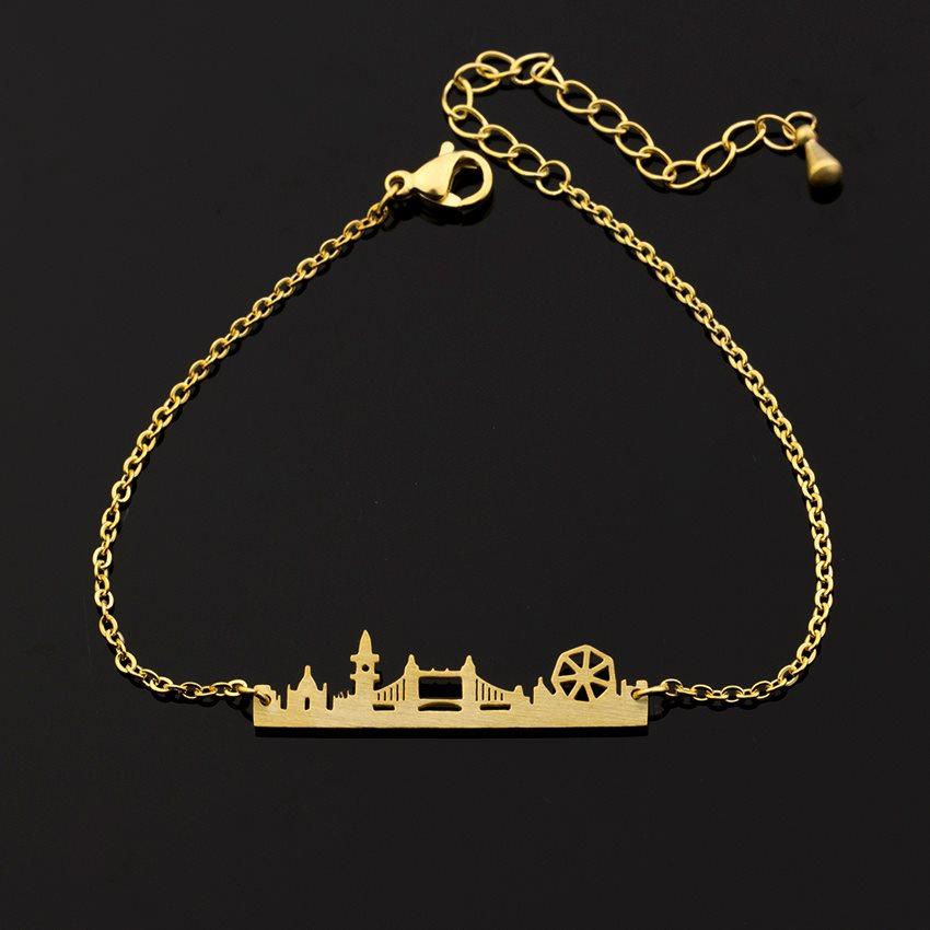 LONDON Skyline Armband Guld på Rostfritt Stål! (306743010) ᐈ Köp på ... ca06a2749507a
