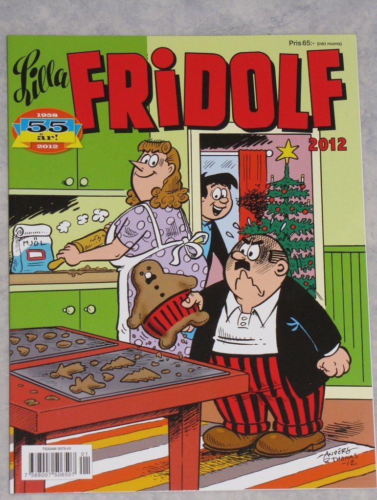 55 års present Lilla Fridolf serietidning nr 1 2012 55 år roli.. (274858446) ᐈ  55 års present