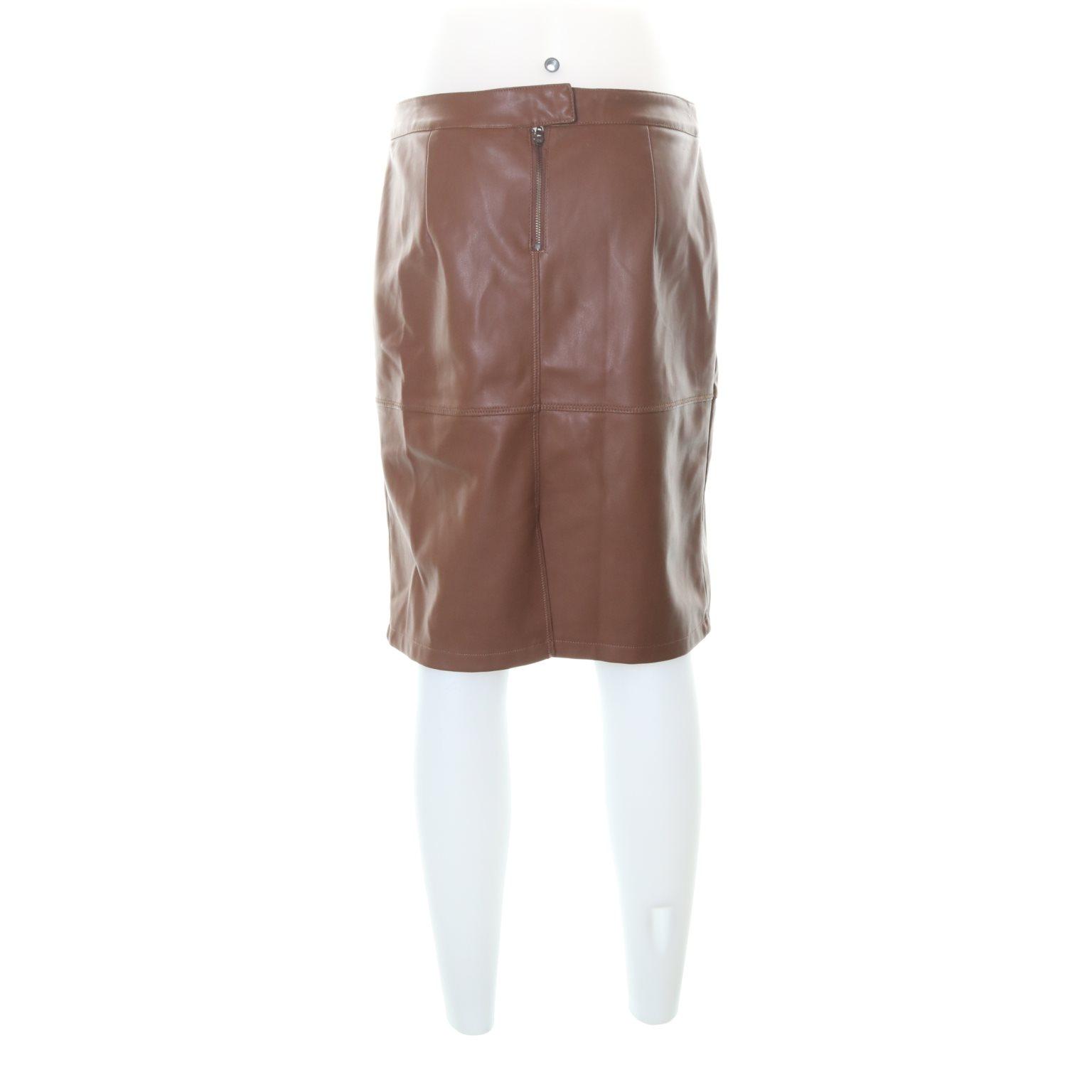Vila Clothes, Skinnkjol, Strl: Strl: Strl: L, Brun 9edf20