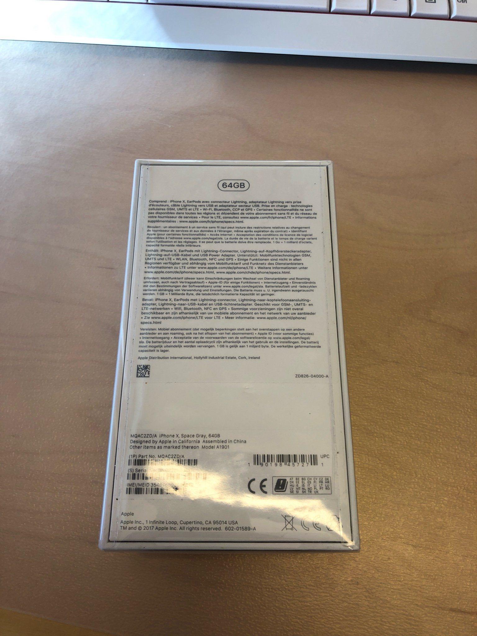 iPhone X oöppnad (Kvitto medföljer) (341623261) ᐈ Köp på Tradera 5114e580bd2c6