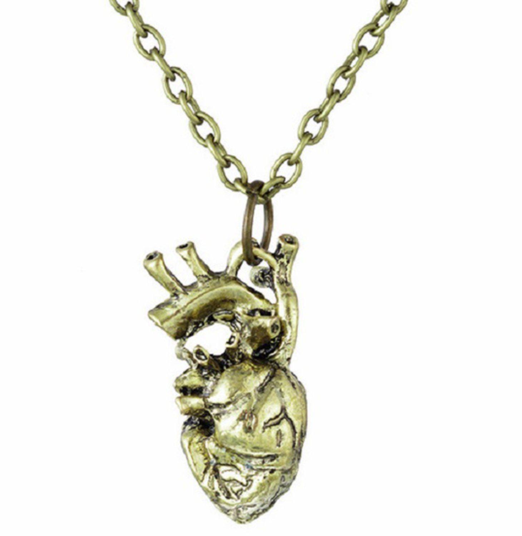 anatomiskt hjärta halsband