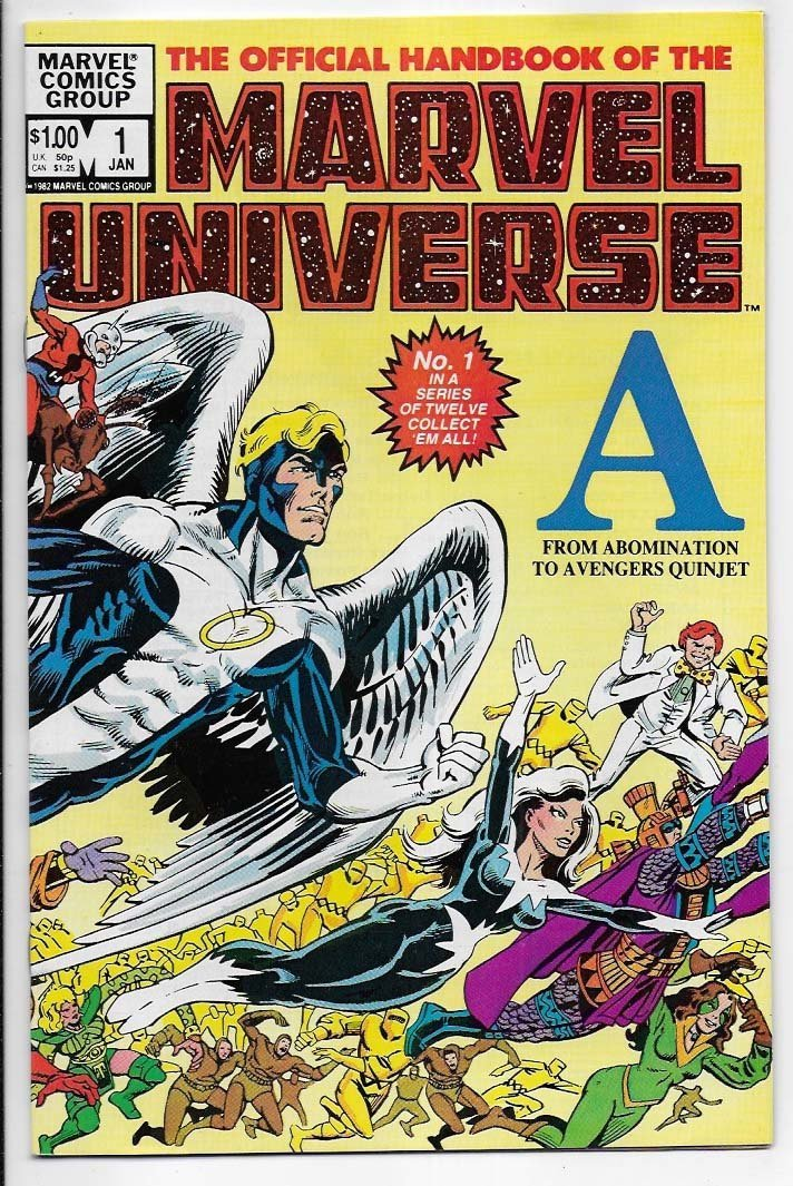 Official Handbook of The Marvel Universe # 1 NM- 1st Issue
