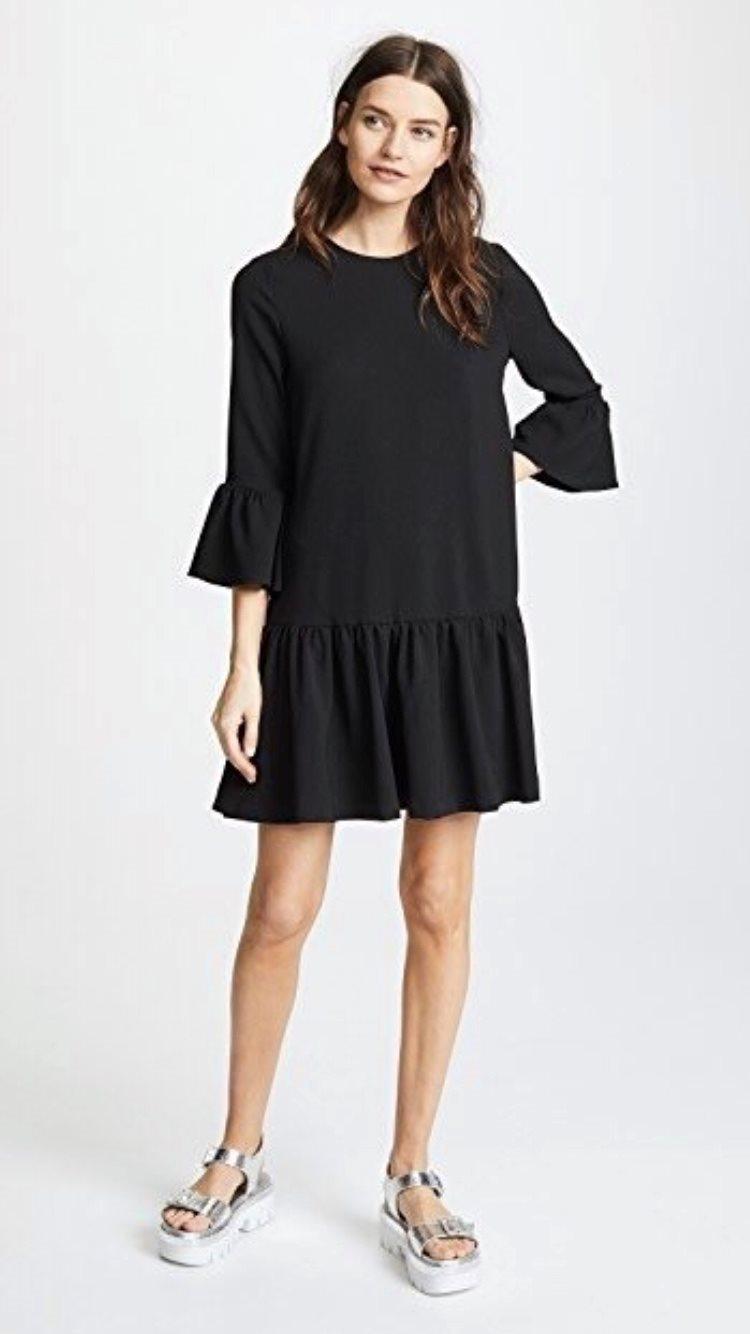 ganni clark klänning