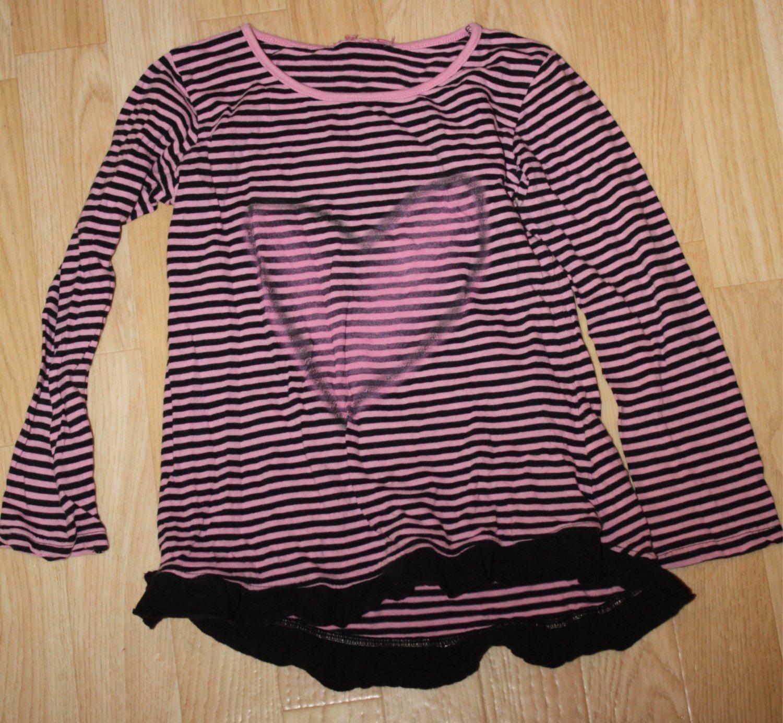 Långärmad randig fin t shirt med hjärta stl 122.. (389255257