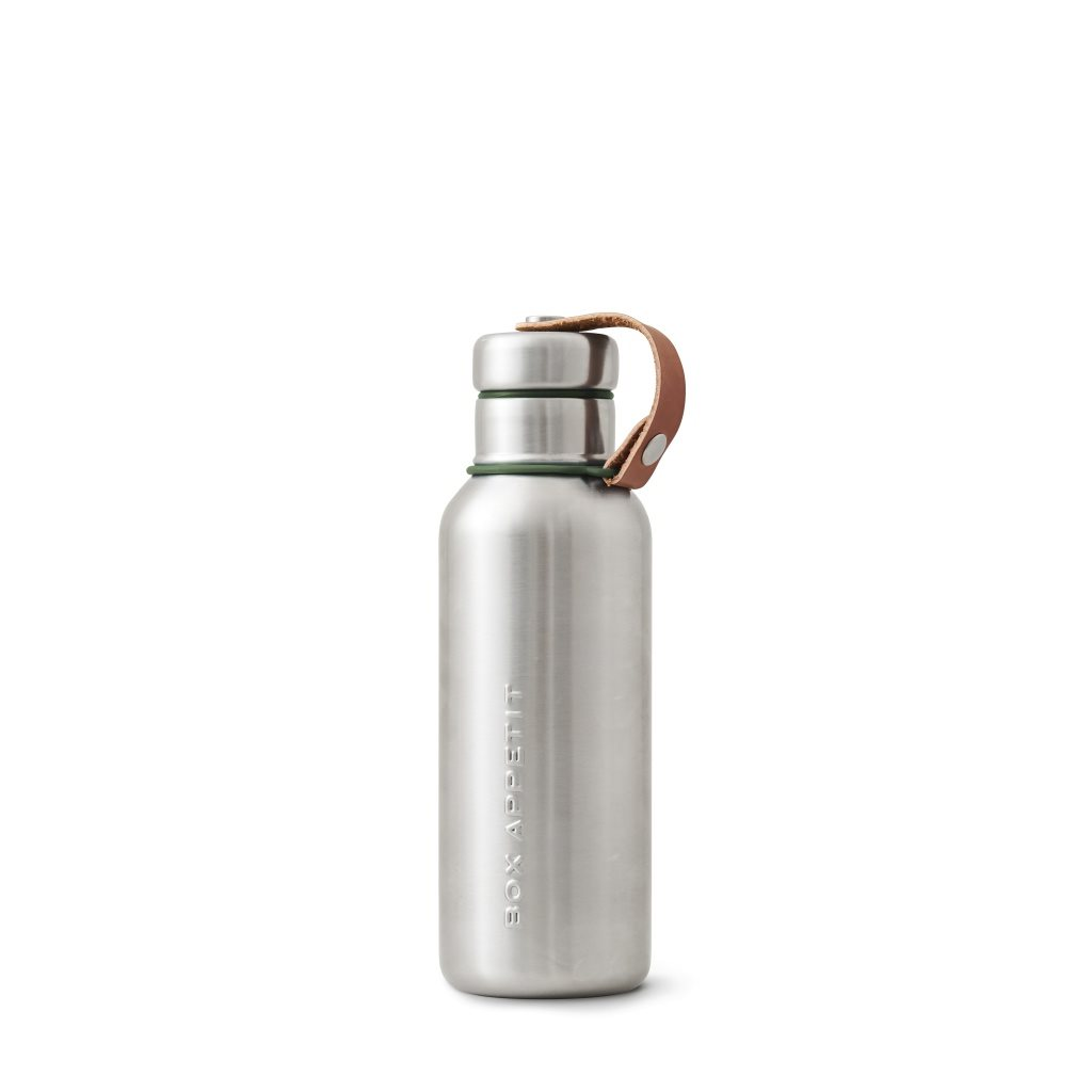 Insulated water bottle olive, Black + blum
