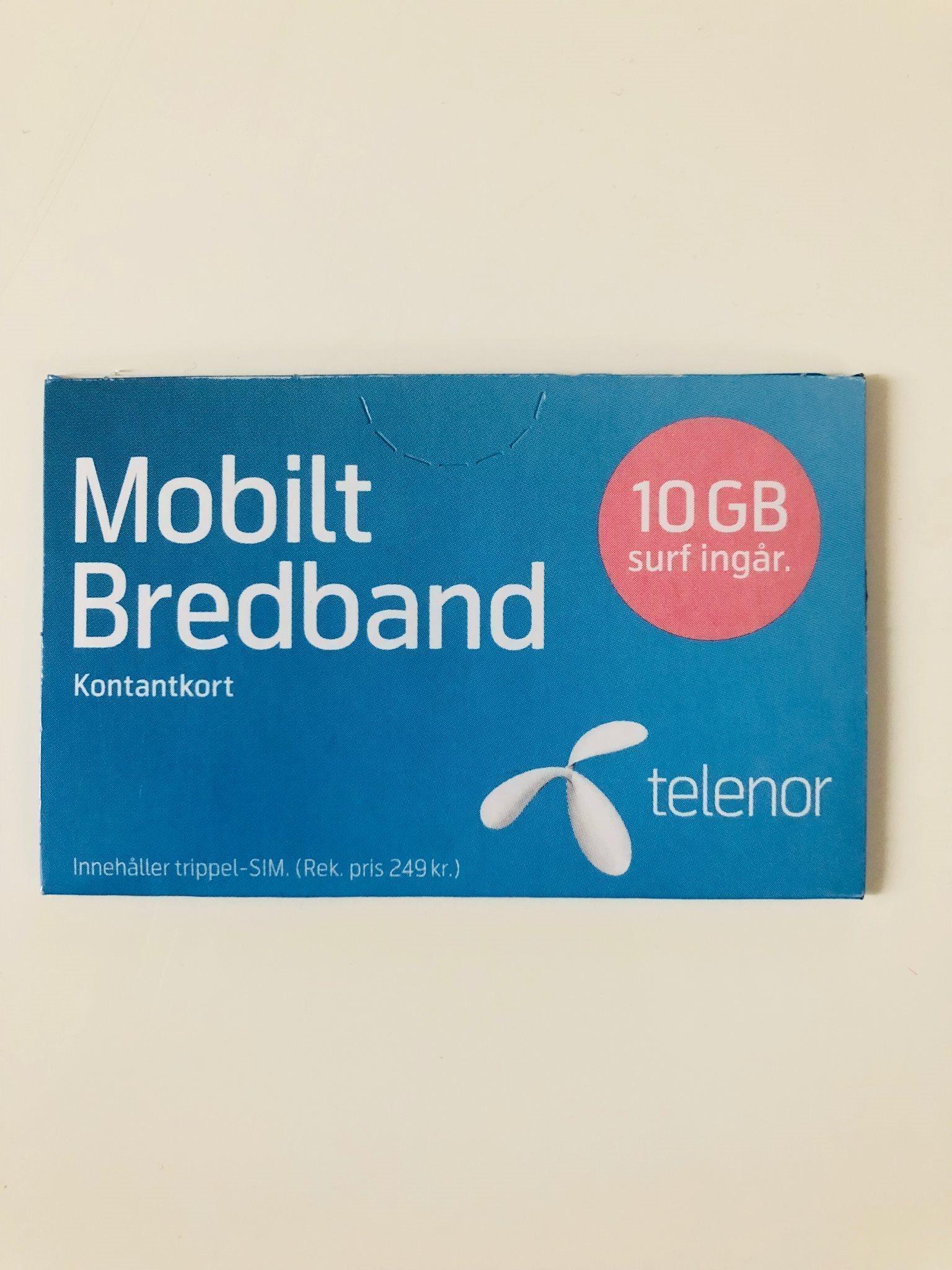 kontantkort till mobilt bredband