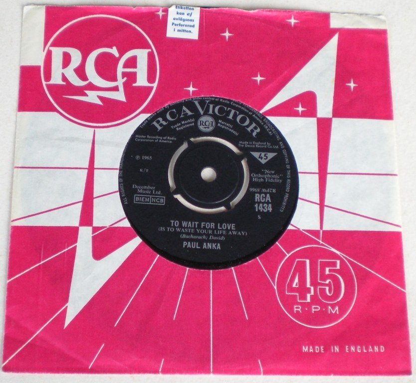 Paul Anka 45a To wait for love UK 1965 VG++