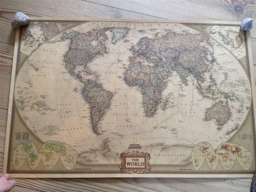 världskarta stor affisch