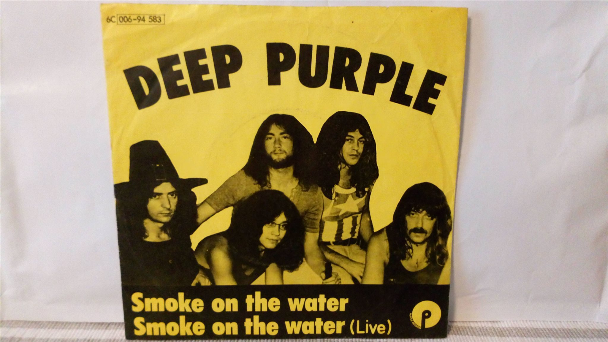 "Deep purple 7"" singel smoke on the water"