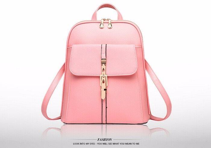 Ryggsäck Läder Rosa (PU) Elegant Design (252456328) ᐈ Fyndify på ... 56d8e7350f24d