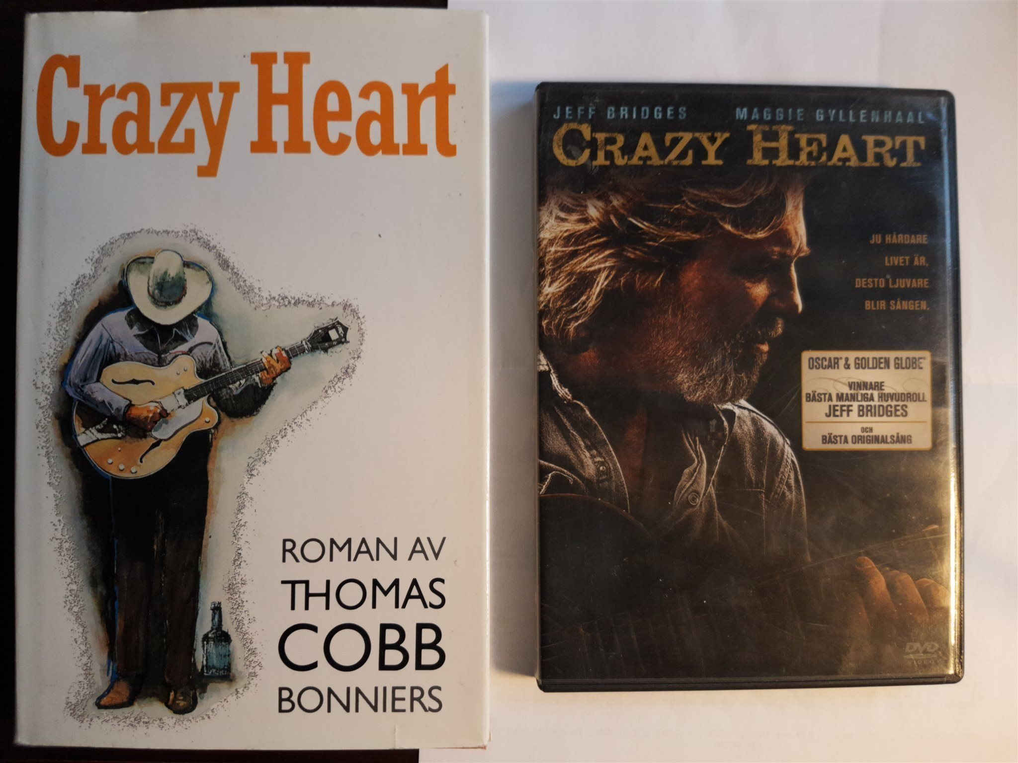 LOT - CRAZY HEART: DVD-filmen + Romanen Crazy Heart av Thomas Cobb