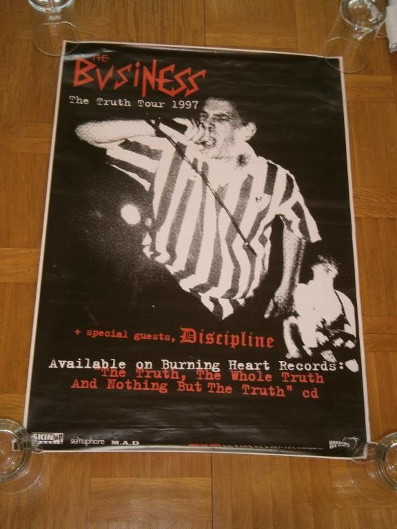 KONSERTAFFISCH - THE BUSINESS - THE TRUTH TOUR 1997