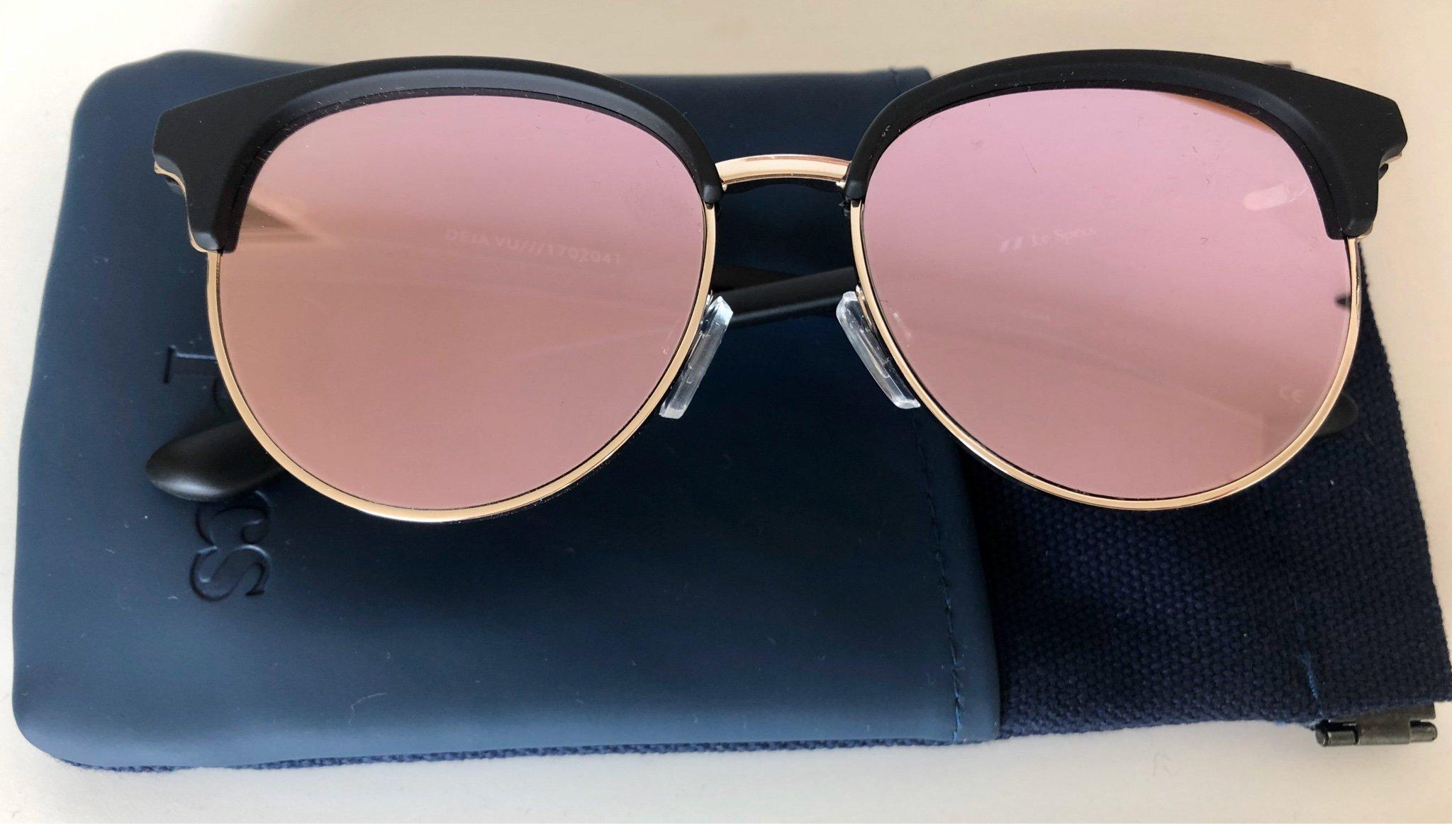 Solglasögon spegelglas wayfarer rosa :