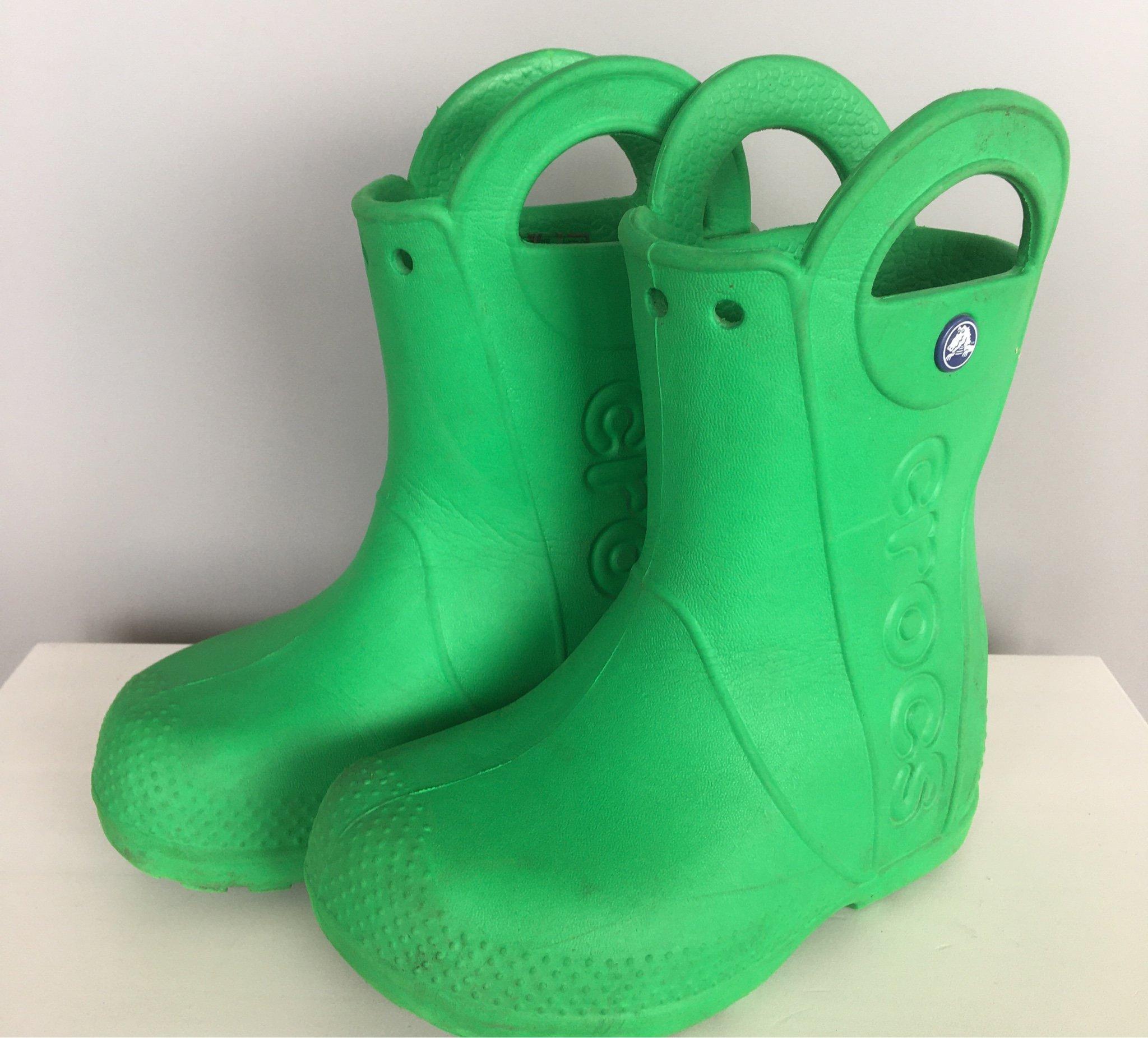 Tuffa gröna lätta crocs stövlar, gummistövlar, .. (398721601