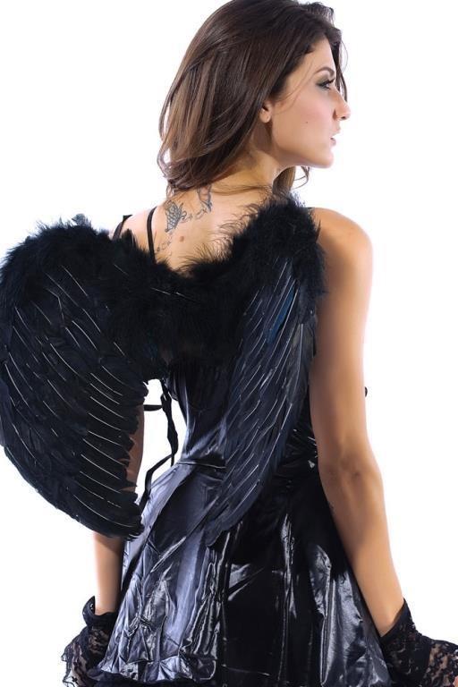 Nya Svarta vingar av fjädrar ängel angel masker.. (325766128) ᐈ Köp ... 706c844ca67e6