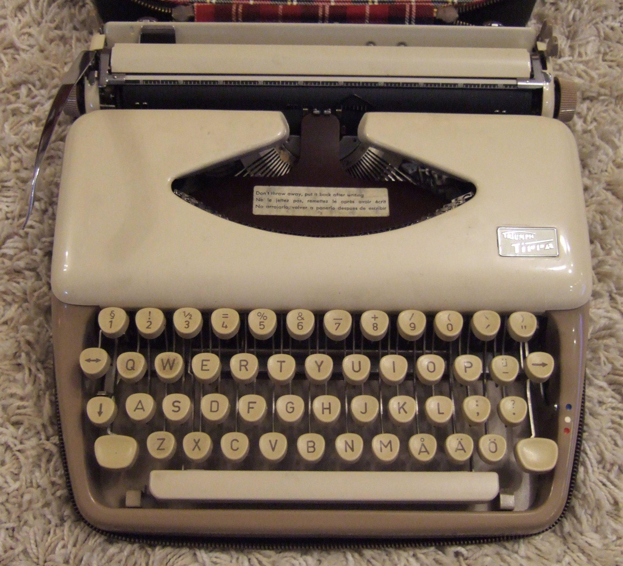 bläckband till skrivmaskin