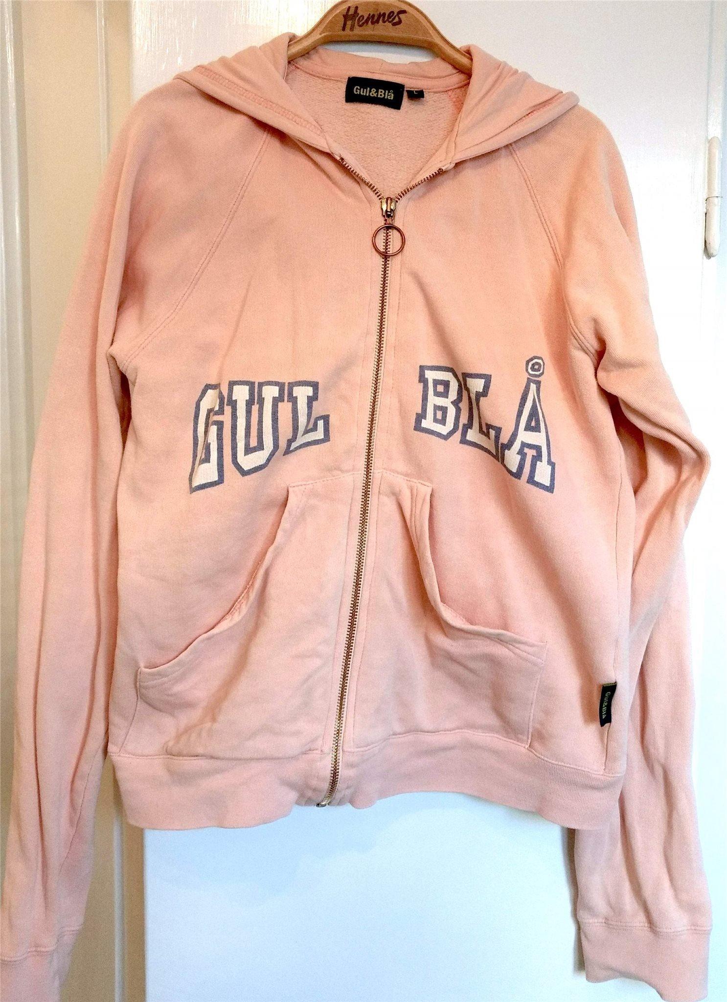 Vintage huvtröja hoodie Gul och Blå, 90 tal, .. (422421312