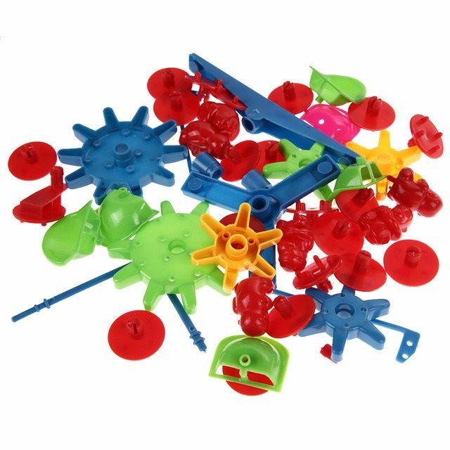 Mekanik Leksak Leksak Leksak Delar Bygg Ihop 007780