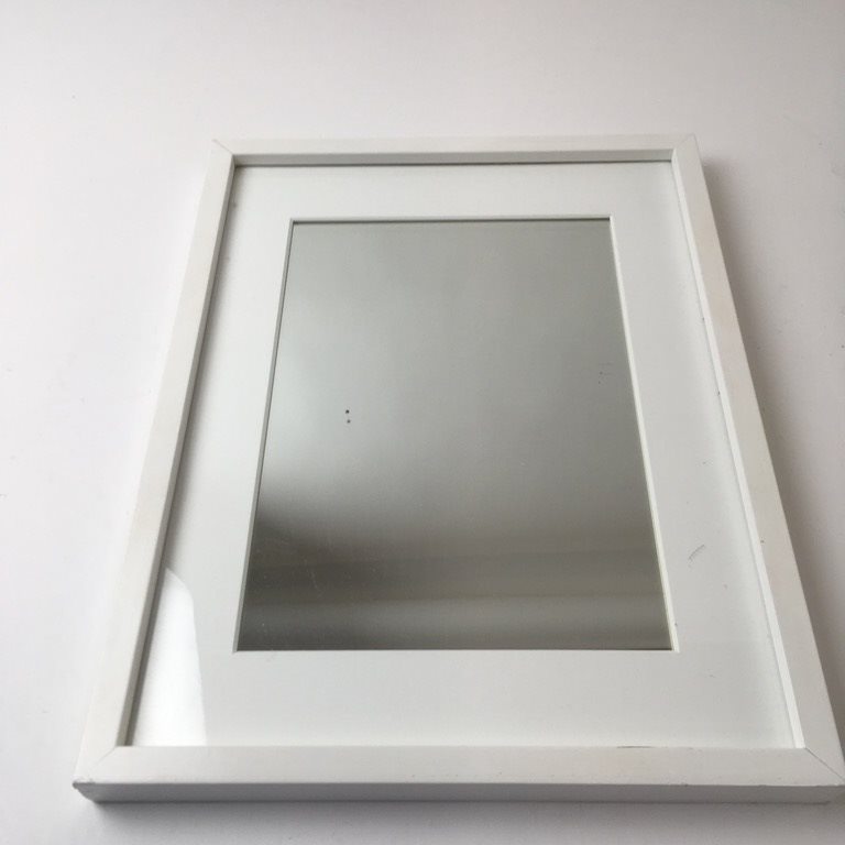 spegel vit träram