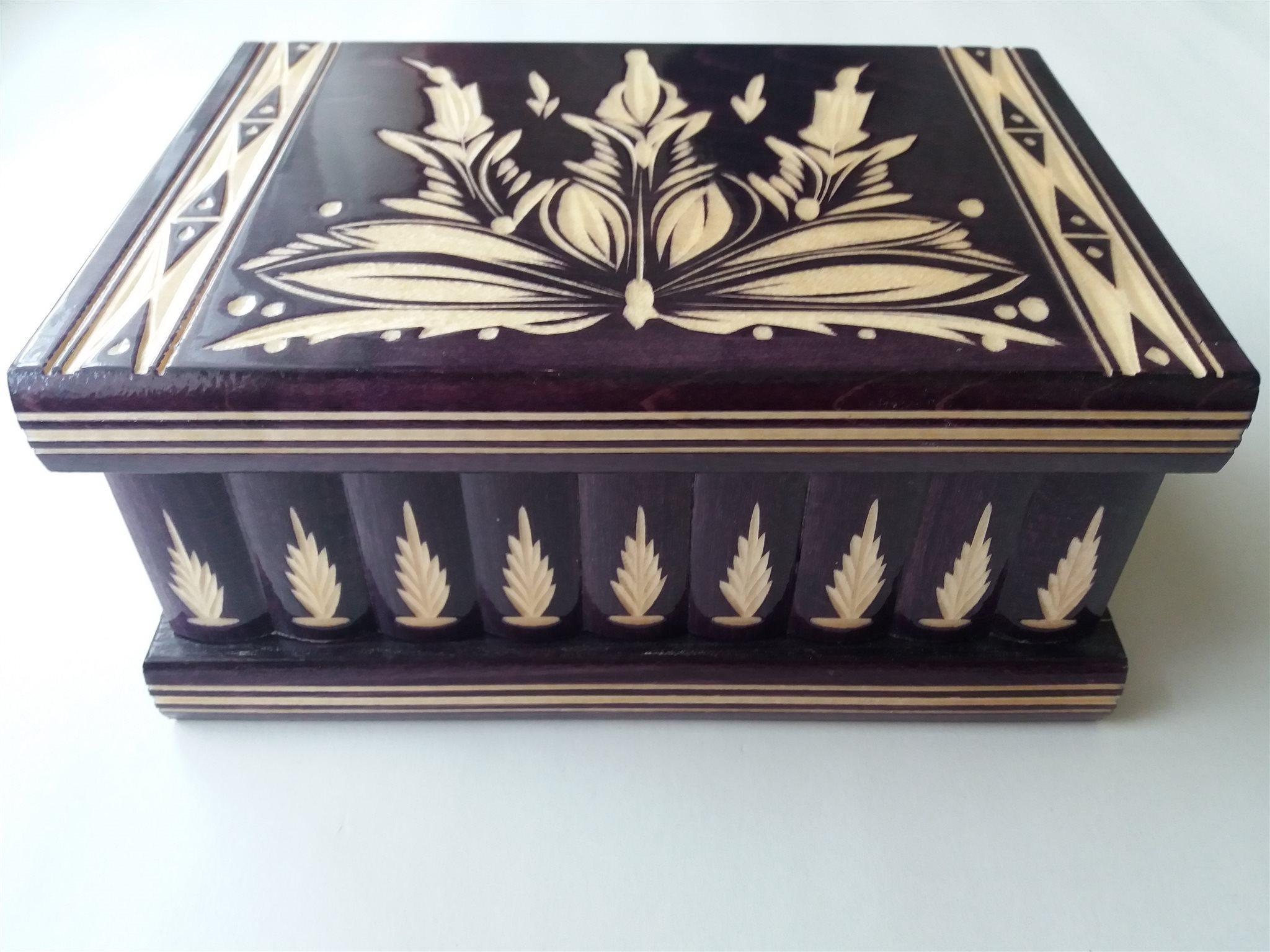 Ny stor stor djup violett pussel låda hemlig skatt äventyr mysterium magisk jakt