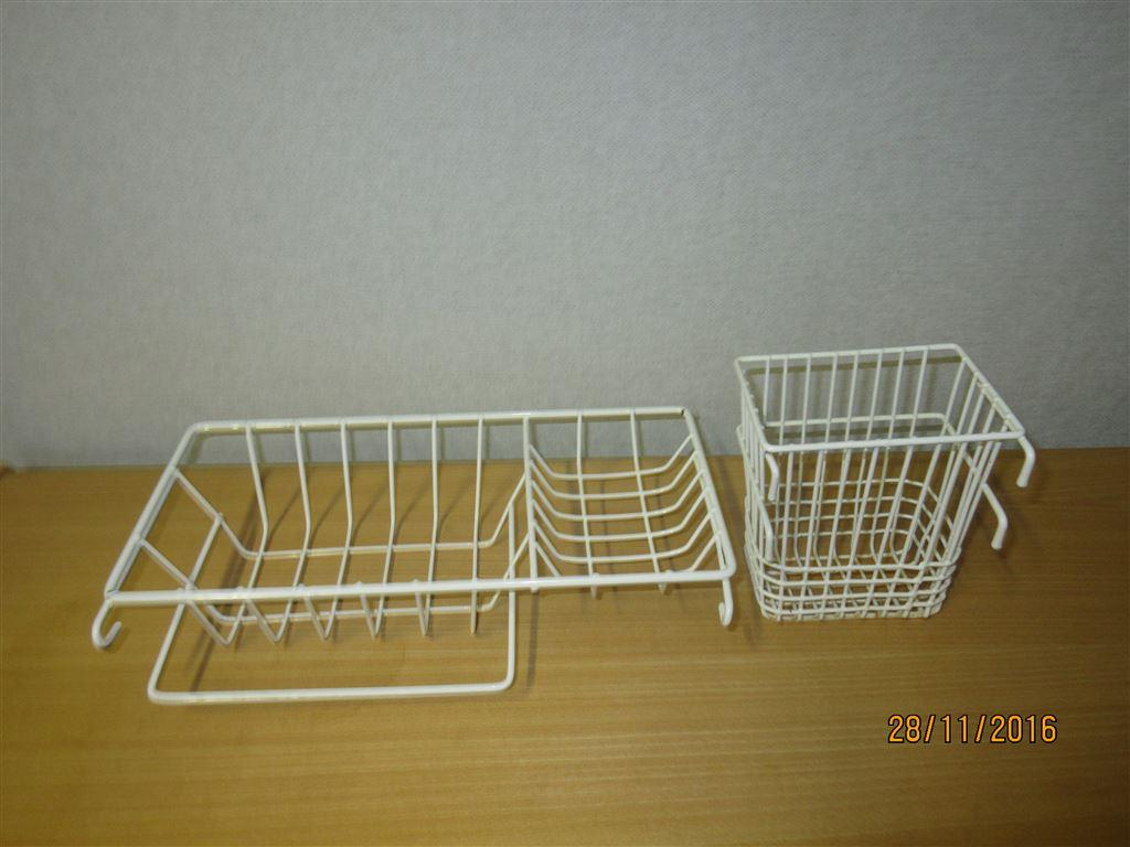 Retro badrumshylla duschhylla tvÅlhylla vit metalltrÅdmodell. på