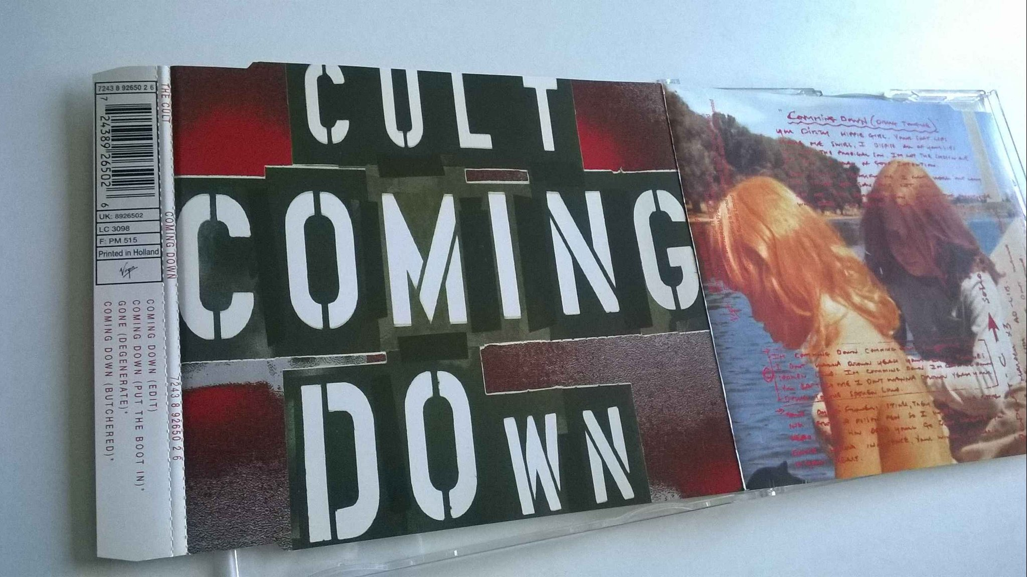The Cult - Coming Down, CD, Maxi-Single