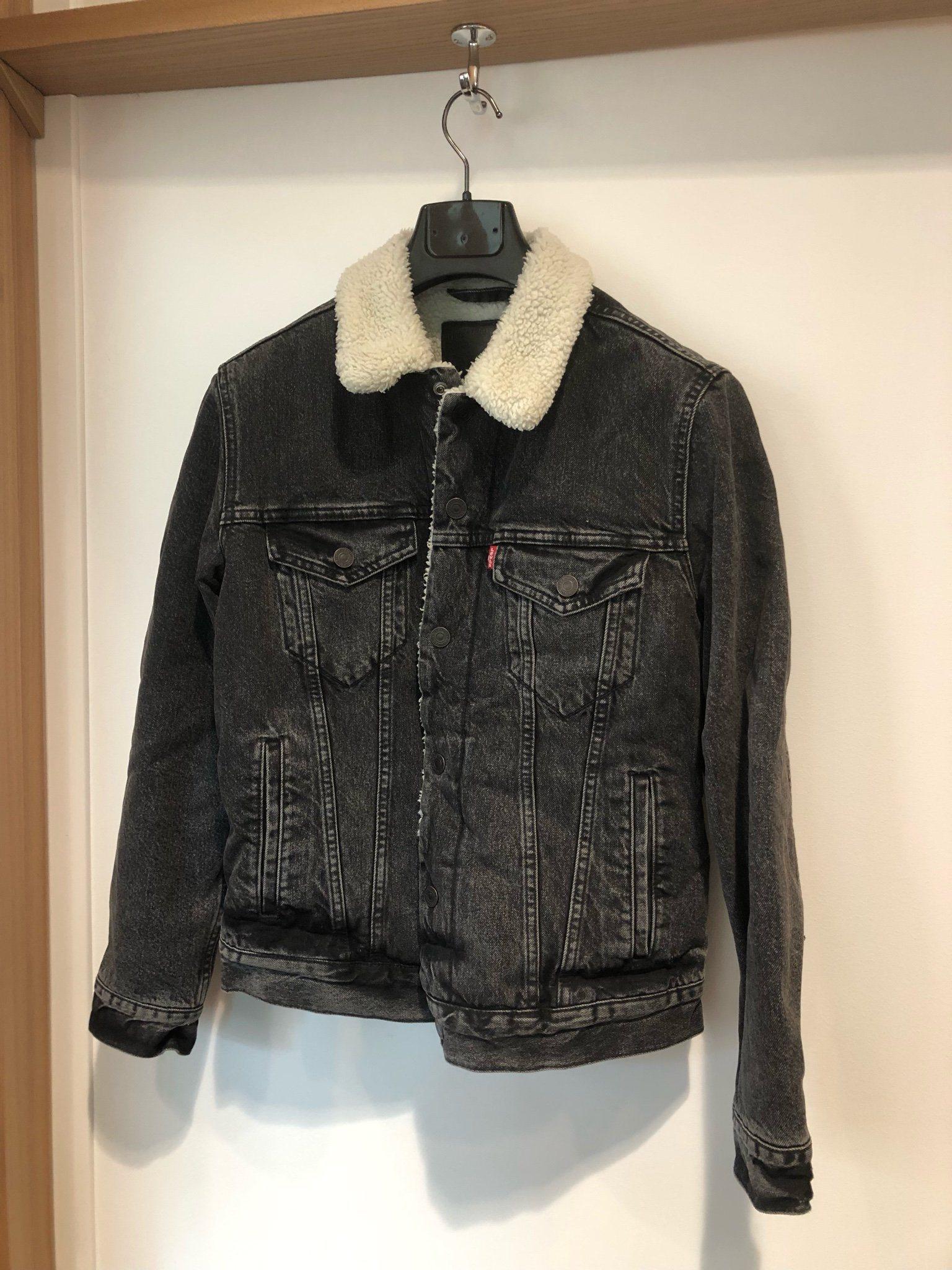 304eac9e389 Levi's jeans / denim sherpa jacka stl S (342979458) ᐈ Köp på Tradera