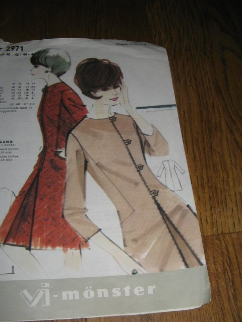 60 tals klänning mönster