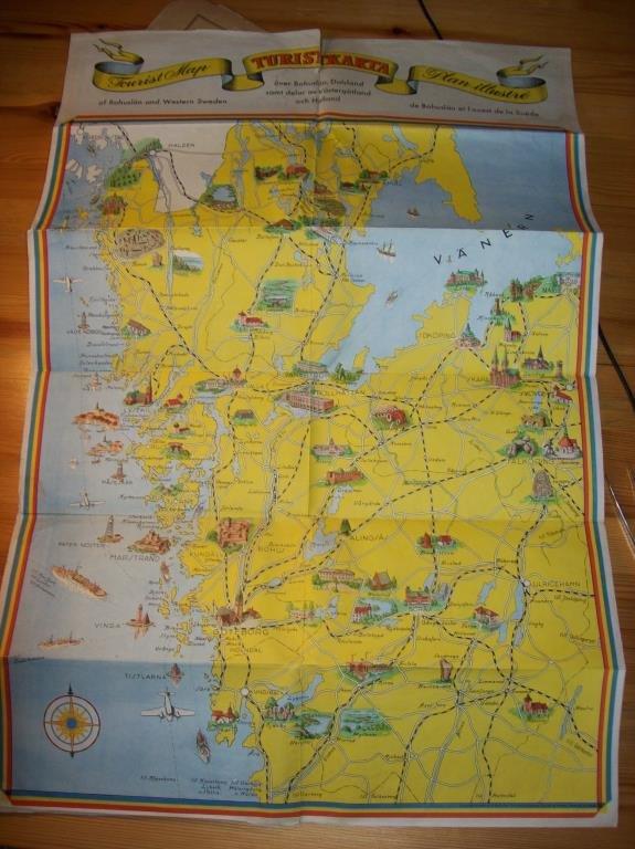 Karta Vastkusten Bohuslan.Turist Karta Over Bohuslan Och Vastra Sverige 349387797 ᐈ Kop