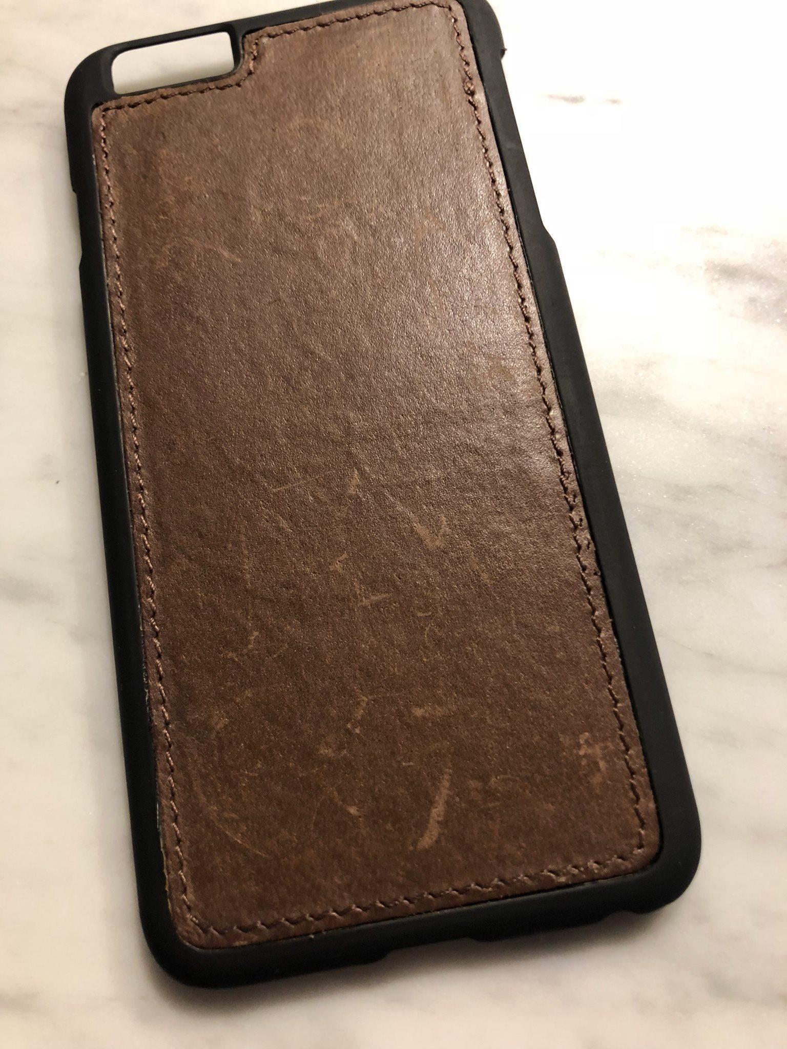 Iphone 6 Plus och 6s plus mobilskal   case   Silikon skal med läder   skinn 63150f738d4be