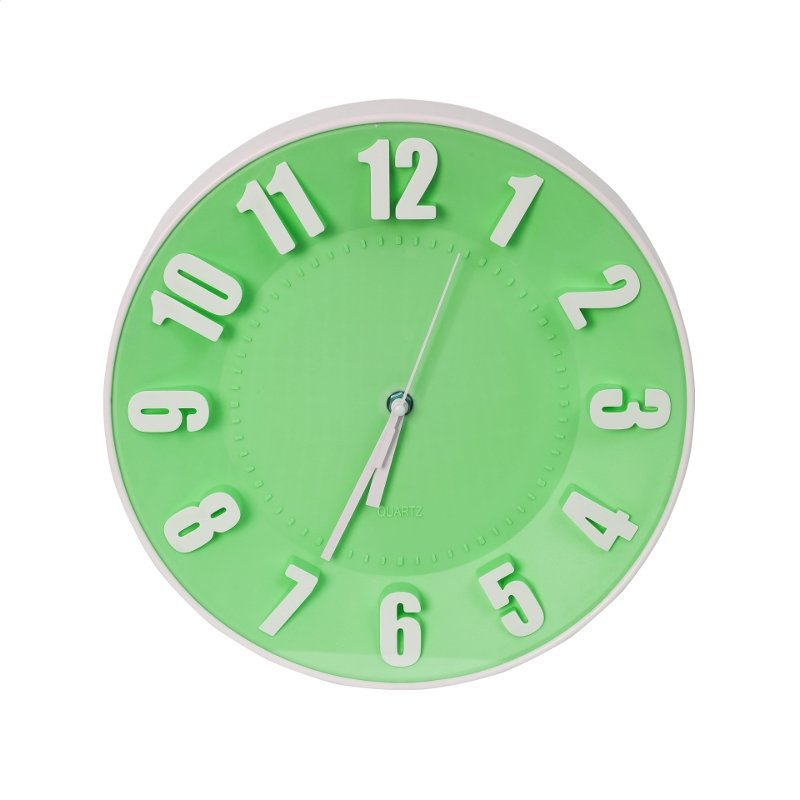 PLATINET CLOCK TODAY WALL CLOCK/GREEN