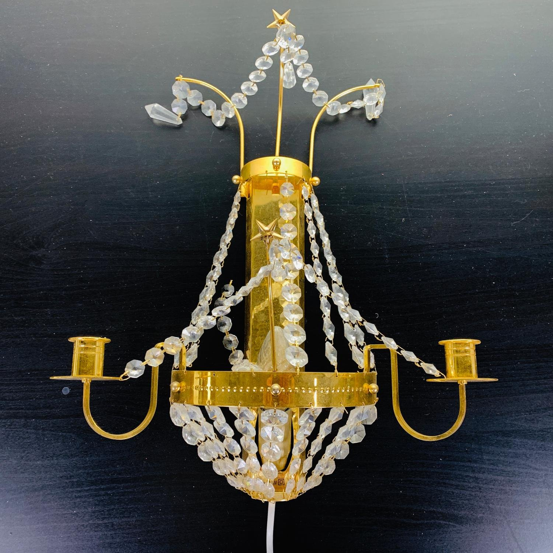 Ikea, Vägglampett, Kristallampa Kristall,.. (420397903) ᐈ