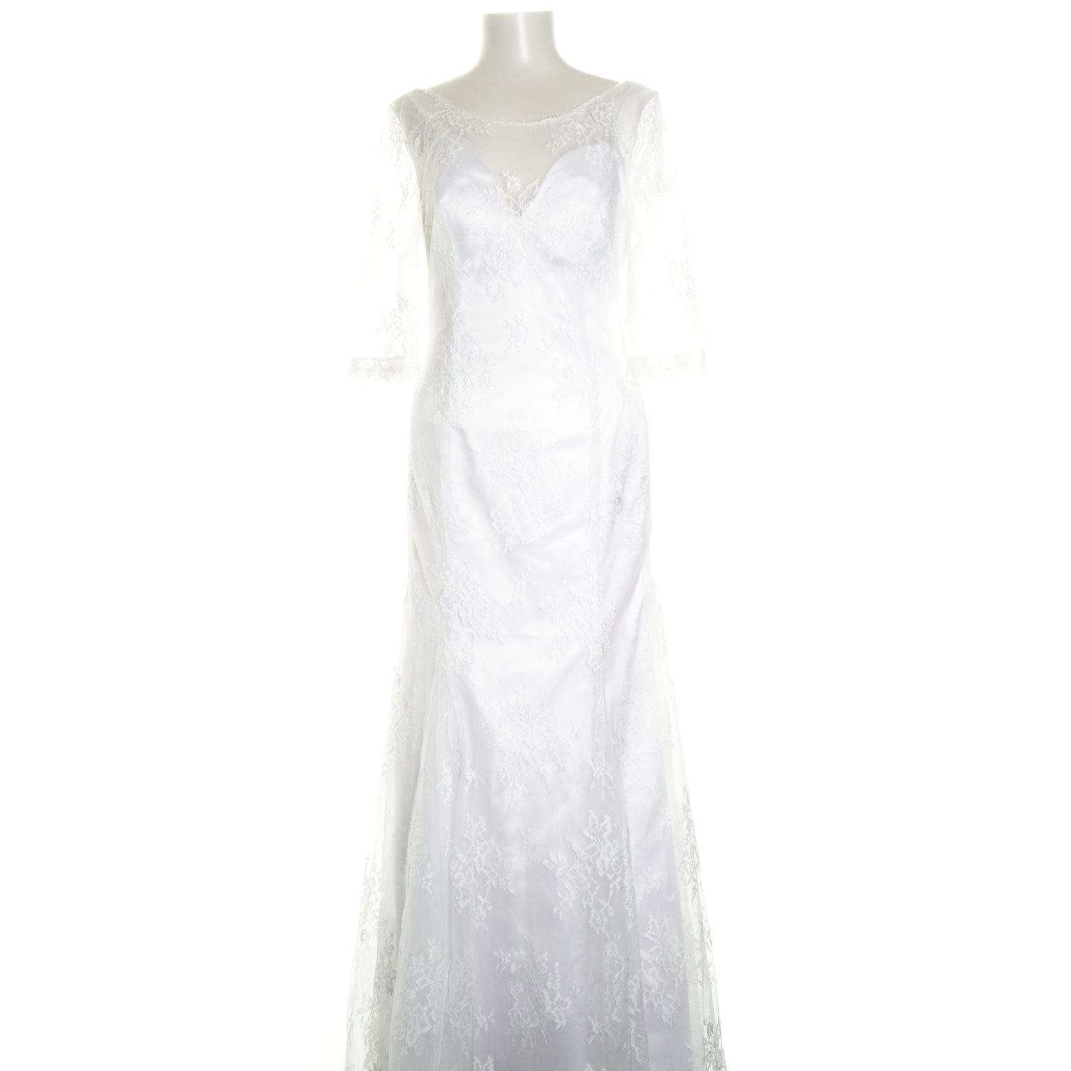 vit långklänning spets