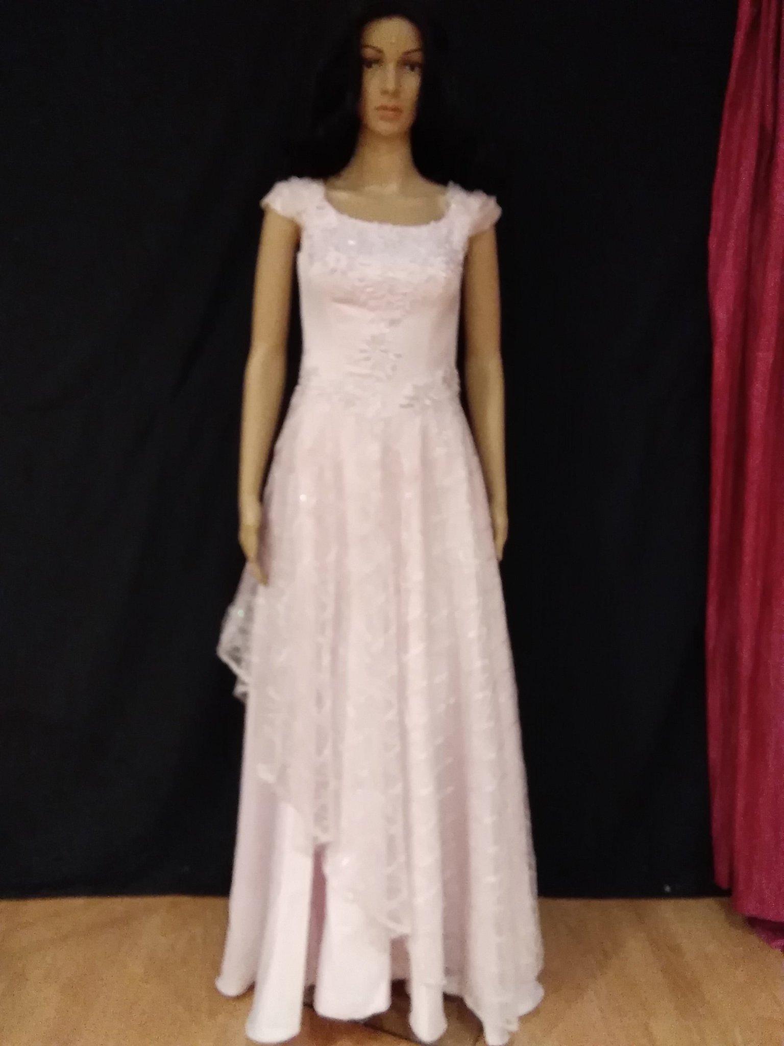 f97e12fdffd4 Ljusrosa balklänning/aftonklänning med silvergl.. (348896828) ᐈ Köp ...