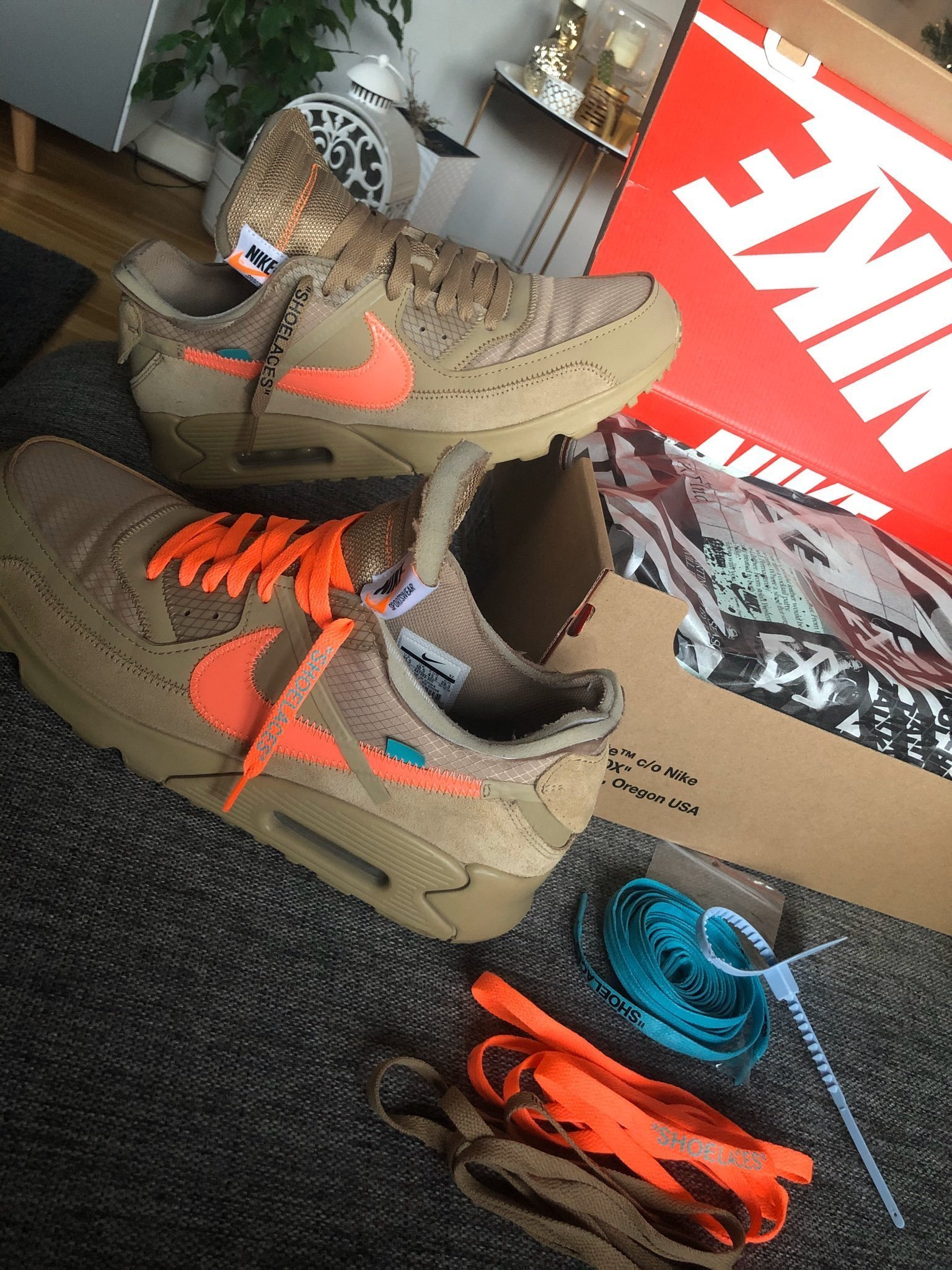 Nike x Off White Air Max 90 Virgil Abloh Storlek 45,5